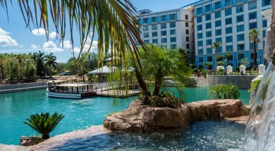 Loews Sapphire Falls Resort Waterfalls at Universal Orlando