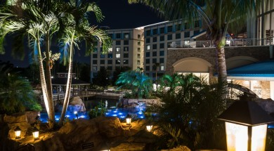 Loews Sapphire Falls Resort's beautiful waterfalls at Universal Orlando Resort