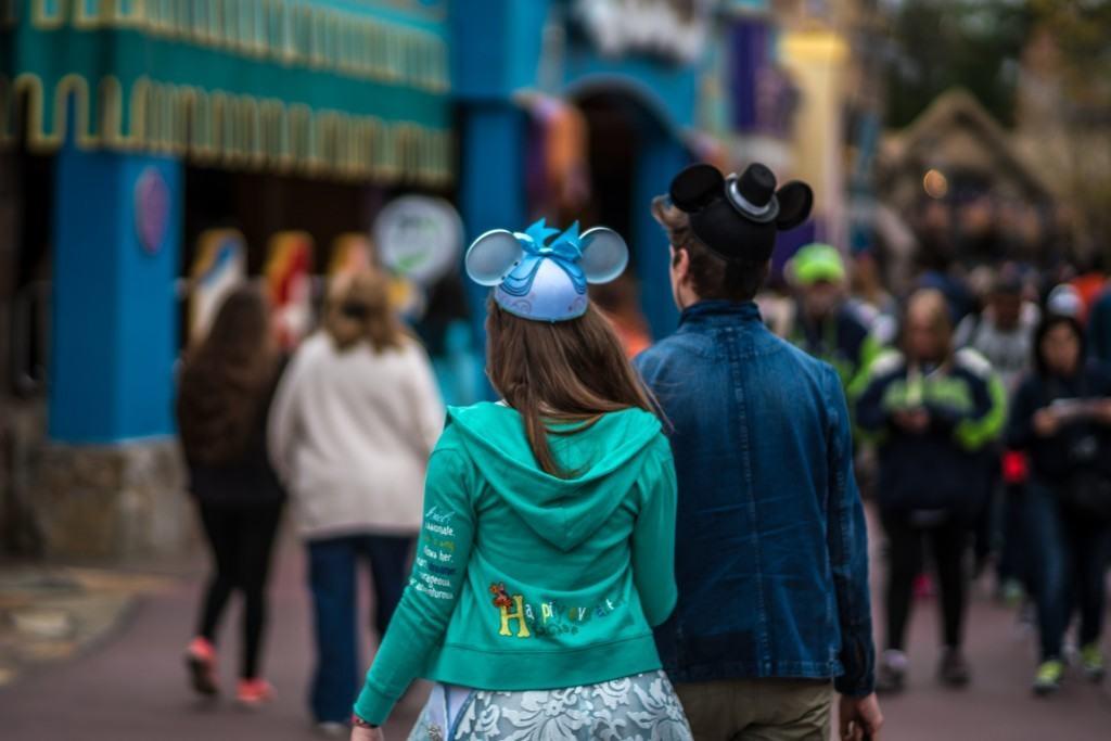 A couple in Fantasyland at the Magic Kingdom
