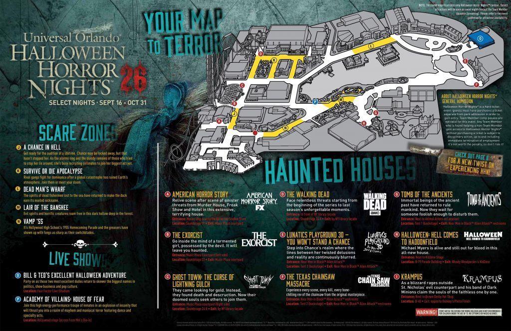 Halloween Horror Nights 26 Map