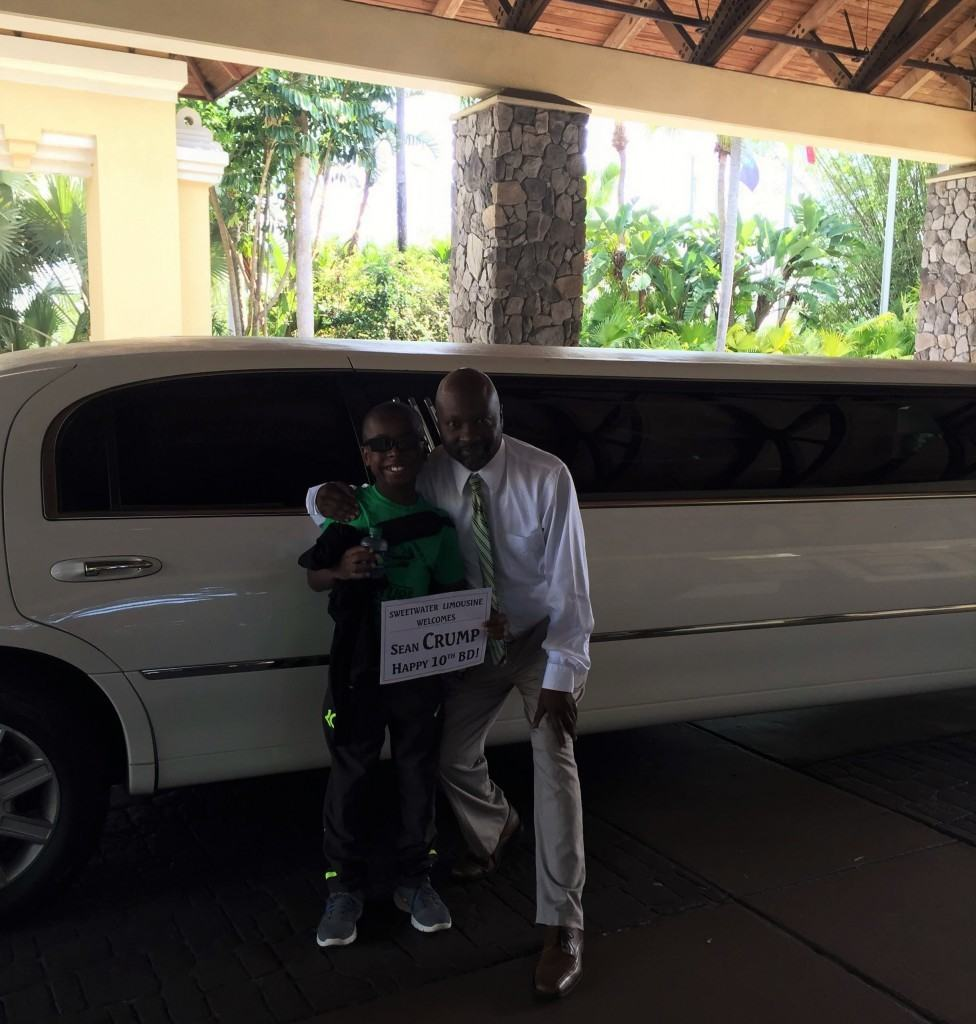 Arriving in style: surprise birthday vacation at Universal Orlando