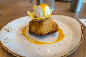 Pineapple Rum Cake from Amatista Cookhouse at Loews Sapphire Falls Resort