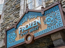 Frozen Ever After Attraction Marquee at Epcot