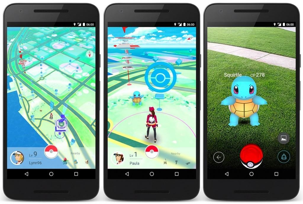 Pokemon Go screenshots