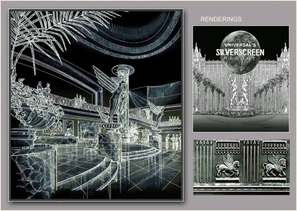 Universal Silverscreen Resort concept art