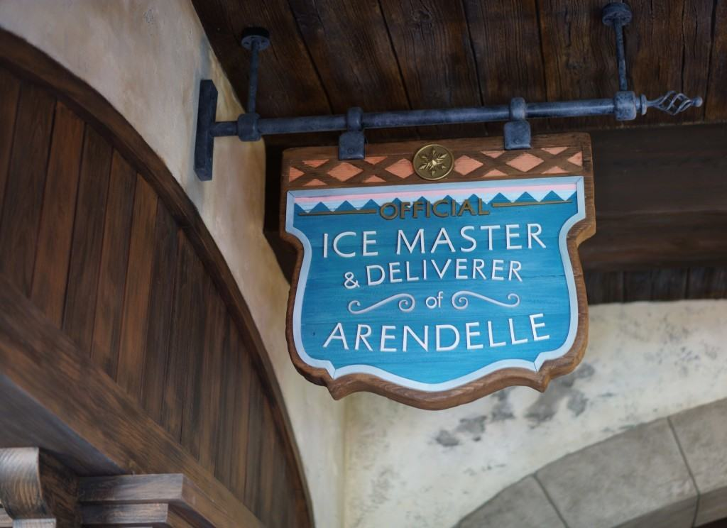 Ice Master Sign at Frozen Ever After in Epcot