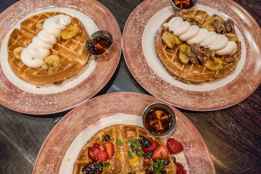 Waffles at Toothsome Chocolate Emporium at Universal Orlando CityWalk