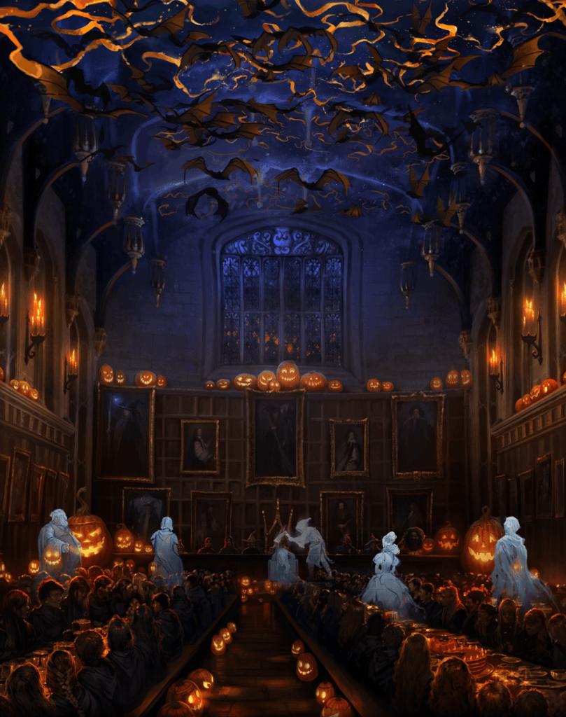 Hallowe'en Feast depicted on Pottermore.com