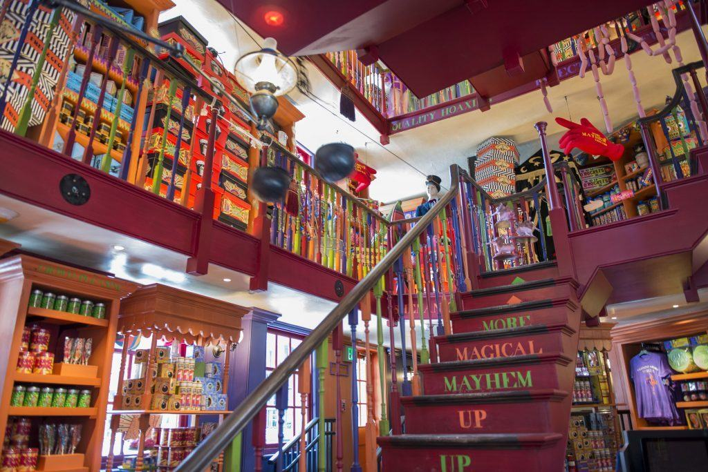 Inside Weasley's Wizard Wheezes in Diagon Alley at Universal Orlando