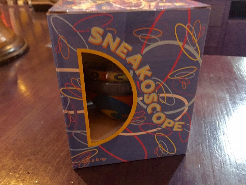Sneakoscope top inside its box in Diagon Alley