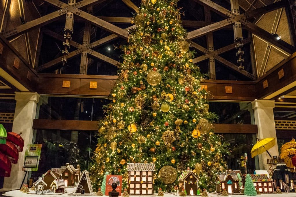 Christmas Tree at Loews Royal Pacific Resort