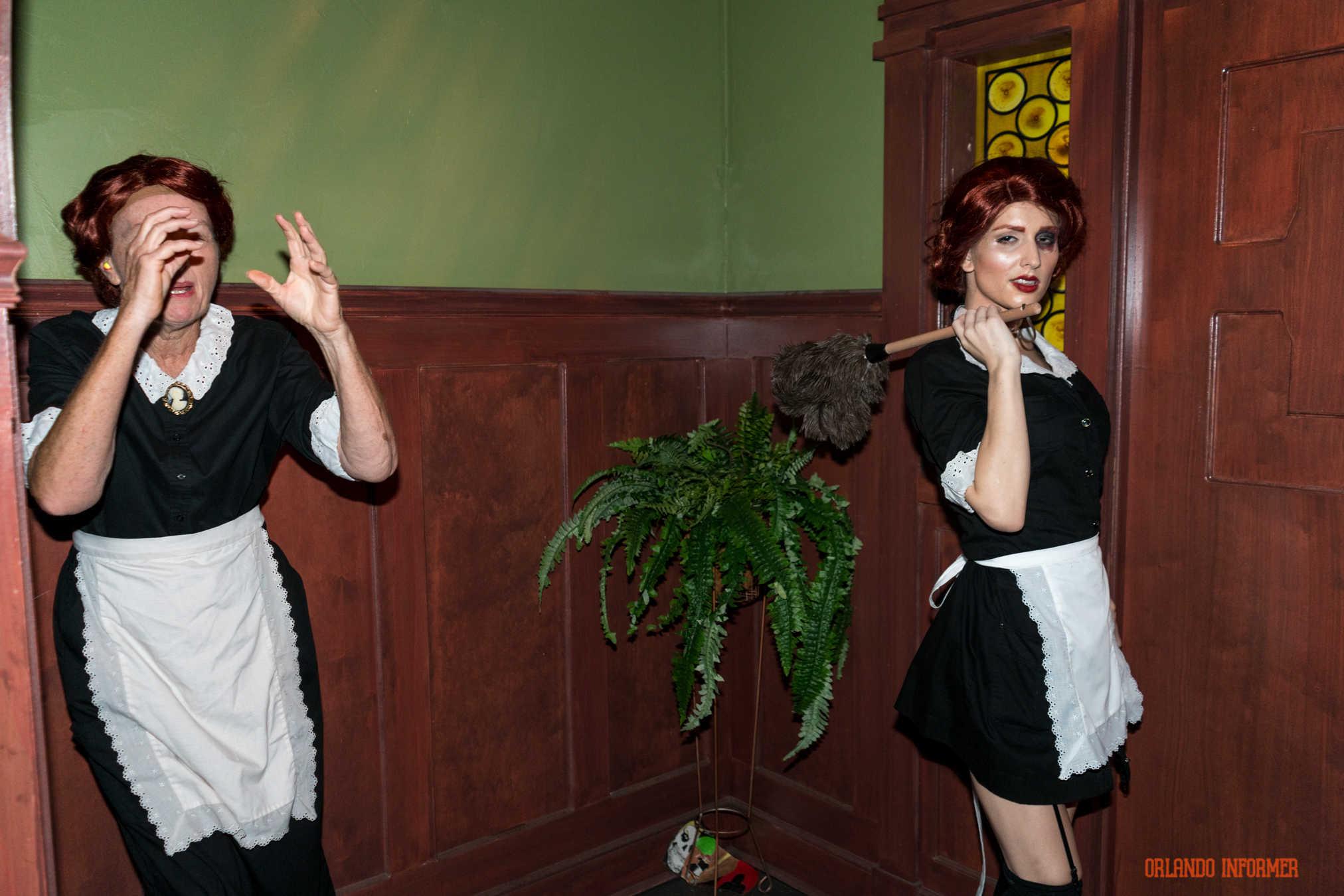 American Horror Story Moira And Elizabeth step inside american horror story at halloween horror nights