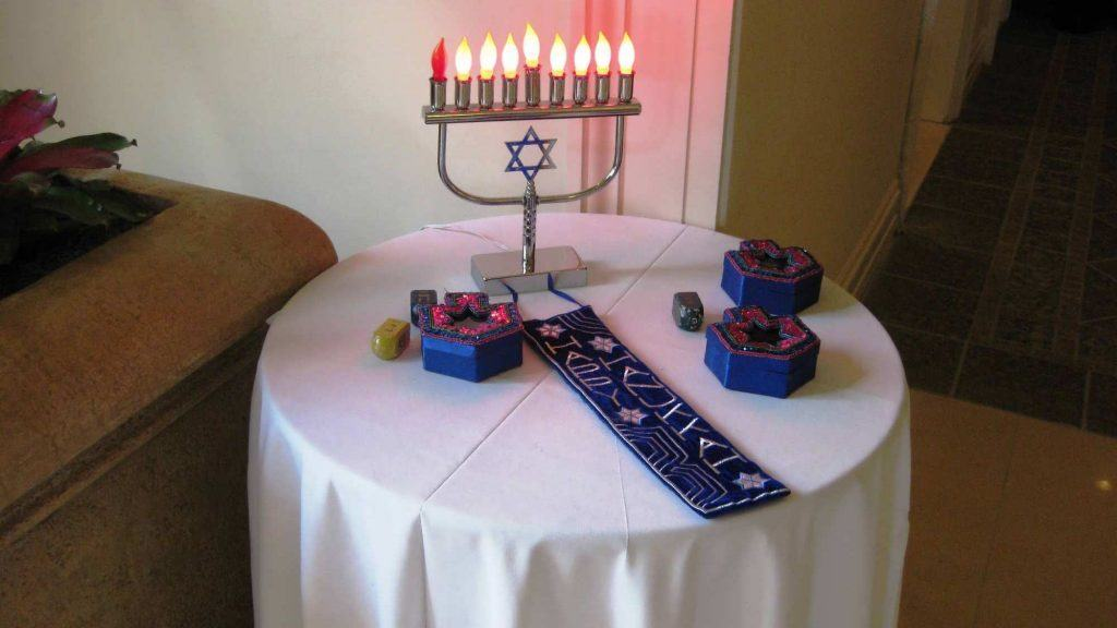 Hanukkah Candle Lighting Ceremony at Loews Portofino Bay Hotel