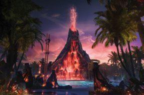 Krakatau at Universal's Volcano Bay concept art