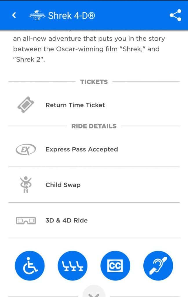 Return Time Tickets for Shrek 4-D at Universal Orlando