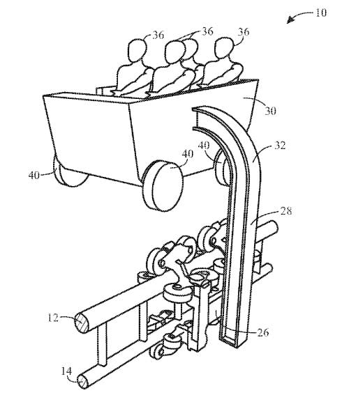 "Univeral's patent for ""boom coaster"""