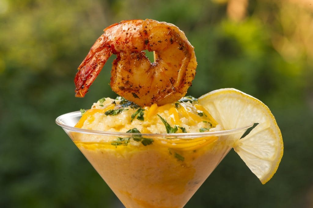 Cheese Grits & Shrimp Casserole from the Gulf Coast Market at SeaWorld Orlando's Seven Seas Food Festival