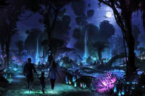 Disney's Pandora - The World of Avatar at nighttime