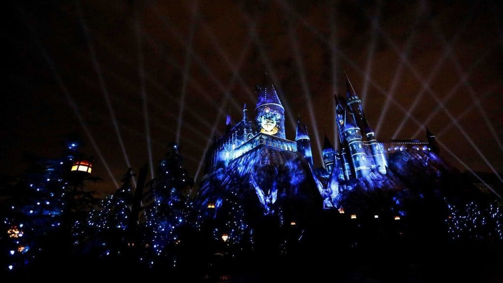 The Nighttime Lights at Hogwarts Castle project show
