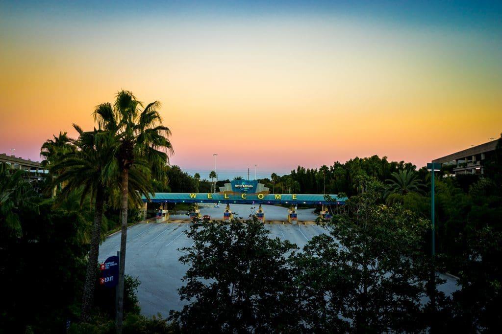 Universal Orlando parking entrance