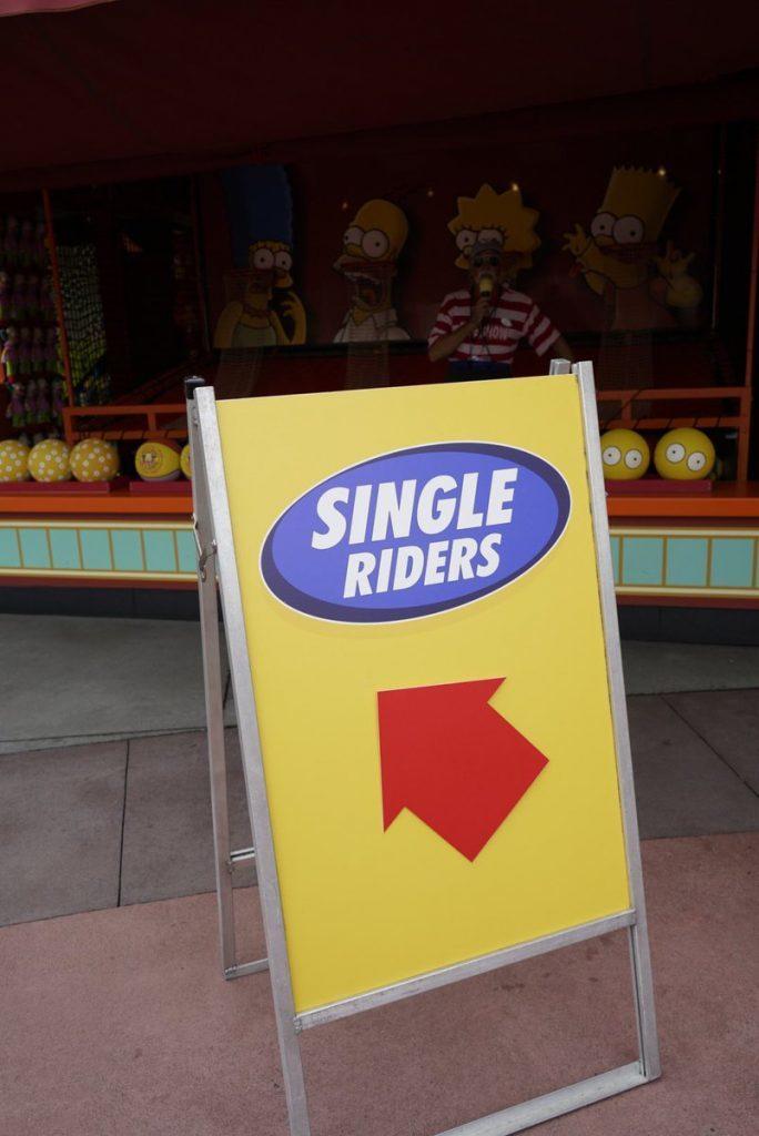 Single Riders Line