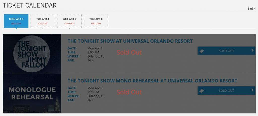 Fallon tickets sold out in a matter of minutes