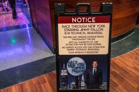 Race Through New York Starring Jimmy Fallon in Technical Rehearsal