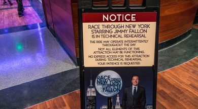 Race Through New York Starring Jimmy Fallon in Technical Rehearsal