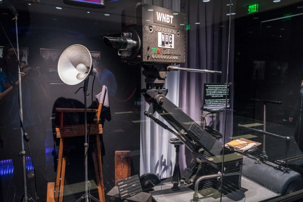 One of the actual cameras that was used to film Johnny Carson's Tonight Show.
