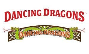 Dancing Dragons Boat Bar logo at Universal's Volcano Bay