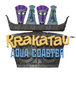 Krakatau Aqua Coaster logo at Universal's Volcano Bay