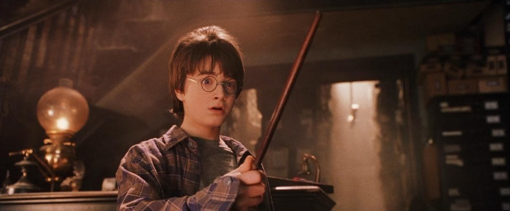 "Harry Potter's wand chooses him in ""Harry Potter and the Sorcerer's Stone"""
