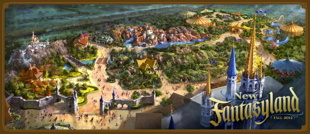 New Fantasyland at Magic Kingdom concept art