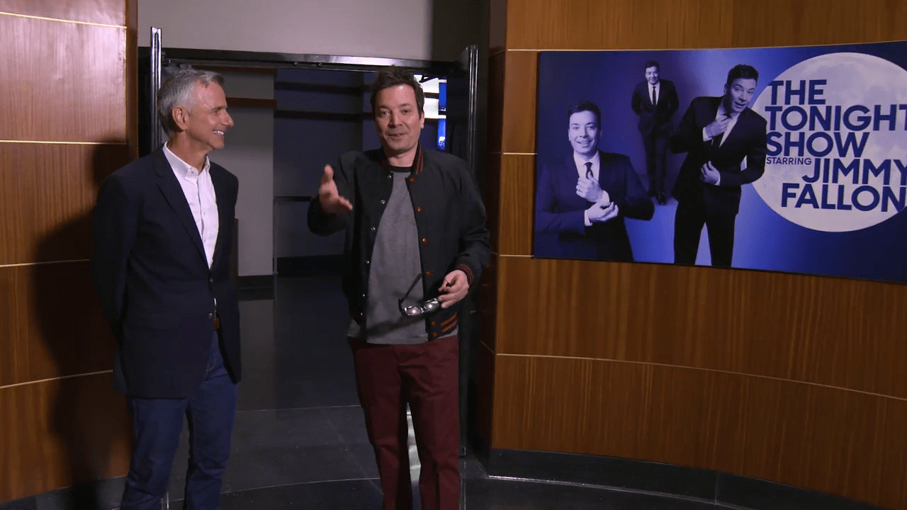 Jimmy Fallon gets private tour of Race Through New York at Universal Studios Florida