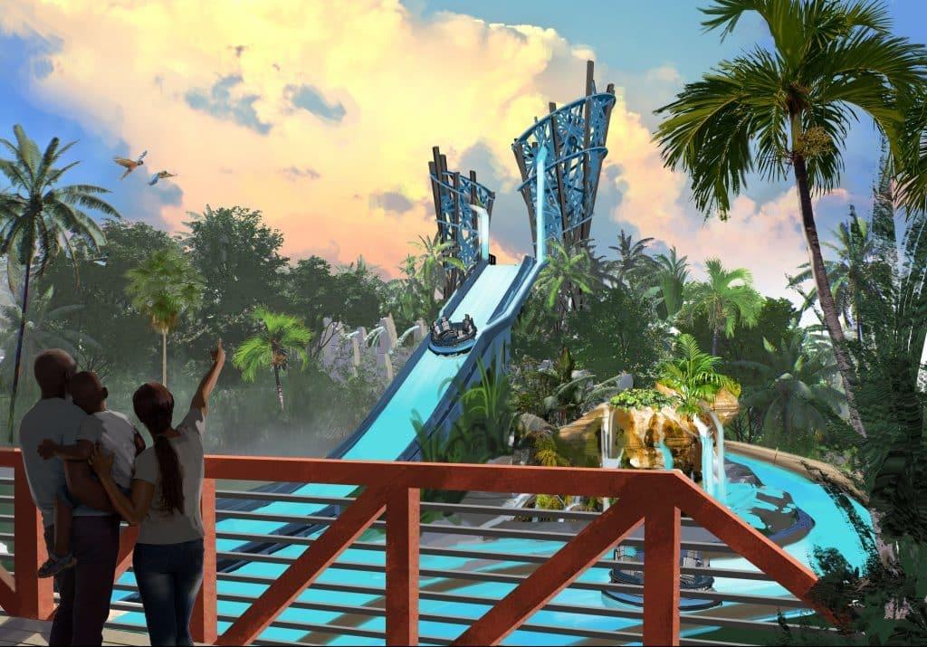 Infinity Falls's big drop at SeaWorld Orlando