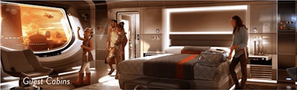 Star Wars hotel guest cabins