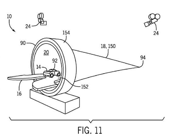 "Universal's ""amusement park ride tunnel"" patent illustration"