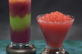 The Night Blossom and Mo'ara Frozen Margarita drinks available inside Pandora - The World of AVATAR