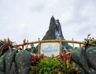 First view of Krakatau at Universal's Volcano Bay