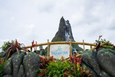 First view of Krakatau at Universal's Volcano Bay