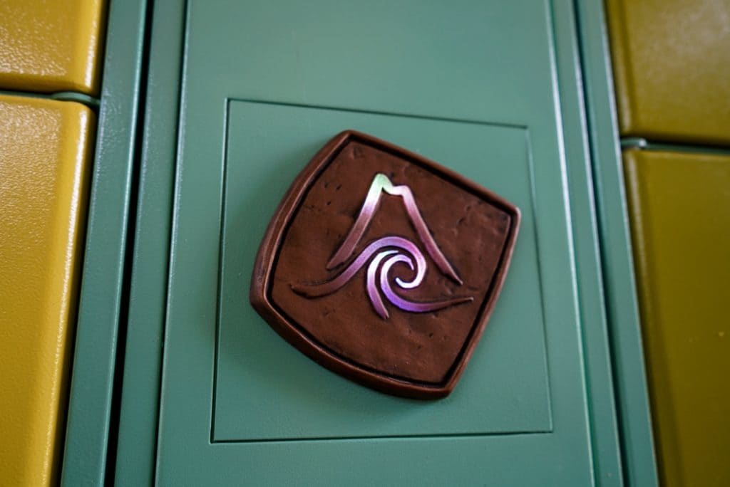 Front of a locker at Universal's Volcano Bay