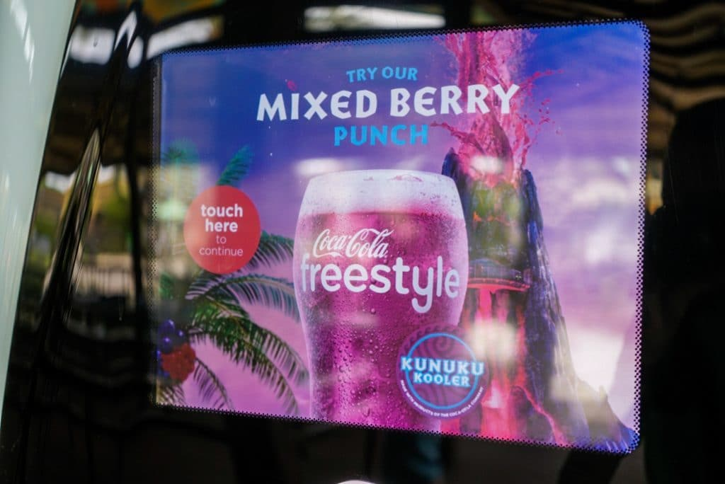 Kunuku Cooler, Volcano Bay's exclusive Coke drink