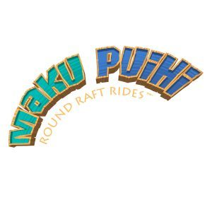 Maku Puihi Round Raft Rides logo at Universal's Volcano Bay