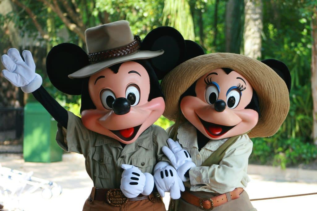 Mickey and Minnie meet-n-greet at Animal Kingdom's Camp Minnie-Mickey