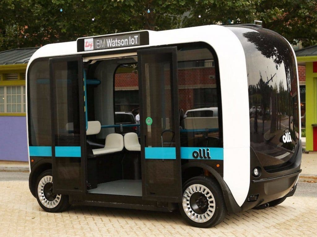Olli driverless shuttle