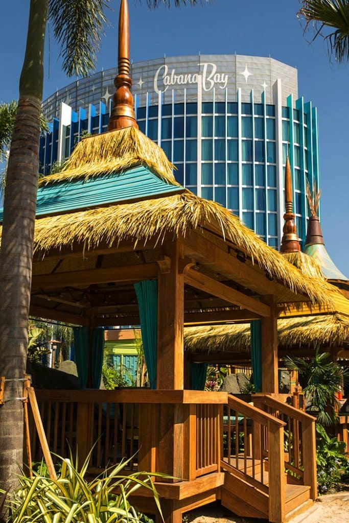 Private cabanas at Universal's Volcano Bay