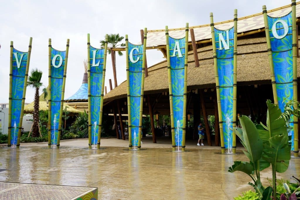 Universal's Volcano Bay front gate