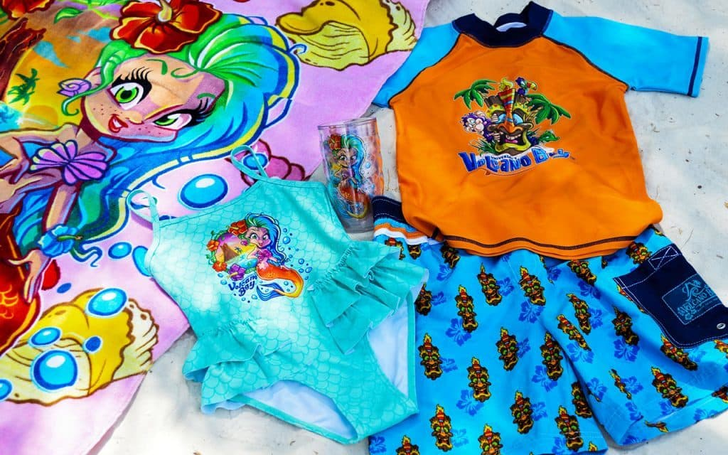 Volcano Bay children's merch