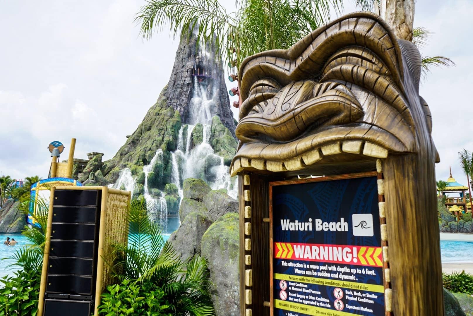 Welcome to Waturi Beach at Universal's Volcano Bay