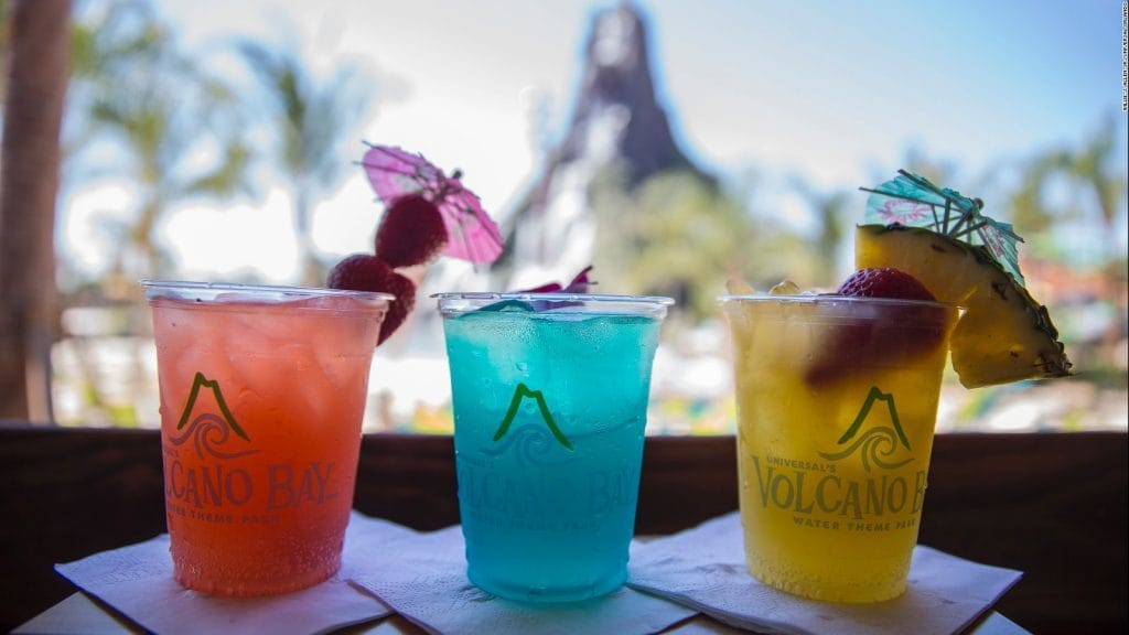 Drink options at Universal's Volcano Bay